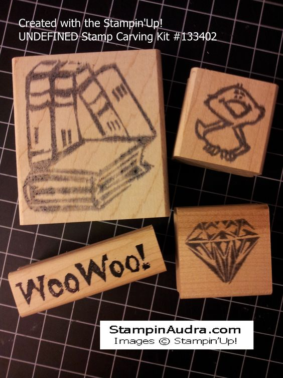 Stamps carved by Audra Avila.
