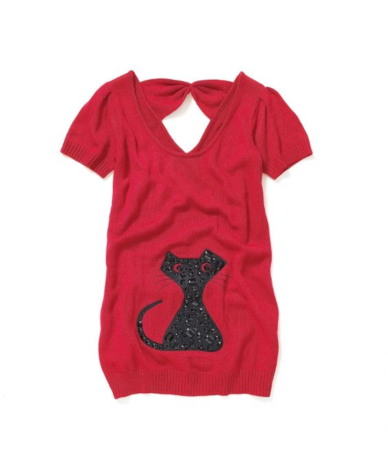 Meow! Love this!! But, their sizing is weird/too big... Joe Browns Quirky Cat Sweater