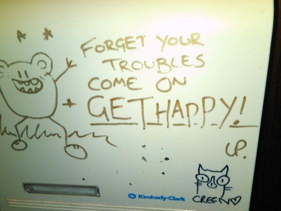 Toilet graffiti