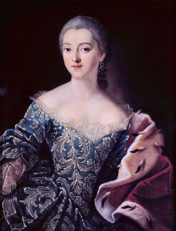 artist Ivan Petrovich Argunov, 1729 - the beginning of 1802, Moscow ... Portrait of Princess Ekaterina Lobanov-Rostovsky, 1754