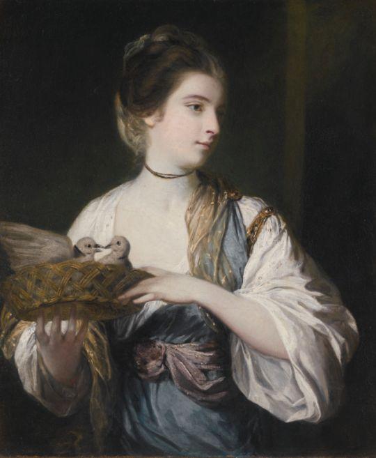 Sir Joshua Reynolds, Nancy Reynolds with Doves - 1789