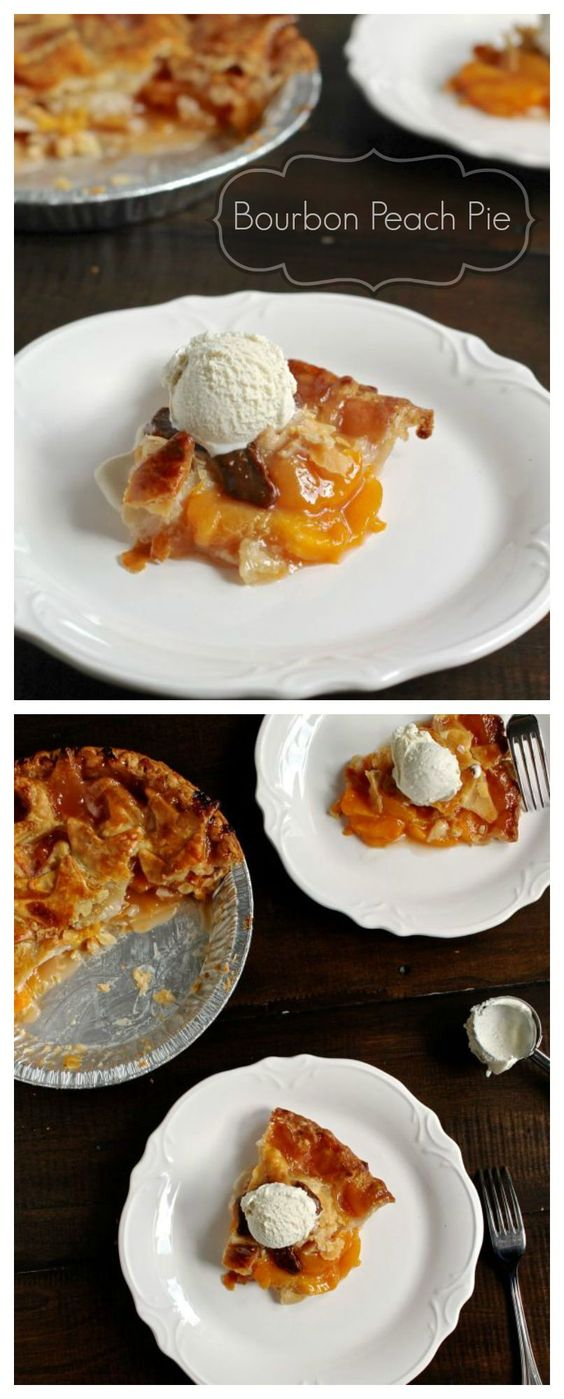 An easy recipe for Bourbon Peach Pie. The bourbon gives this pie a ...