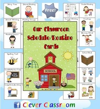 Free Our Classroom Schedule Routine Cards - PDF fileA free download designed by Clever Classroom.96 x classroom routines.6 routines to ...
