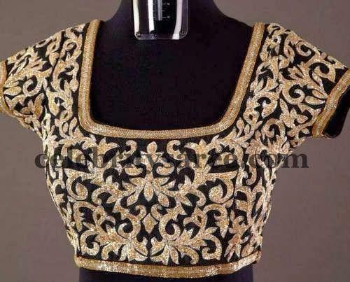 Sequins Work Black Blouses | Saree Blouse Patterns