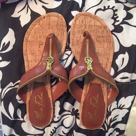 cute sandals cute brown sandals with a cute zipper. (doesn't move) Shoes Sandals