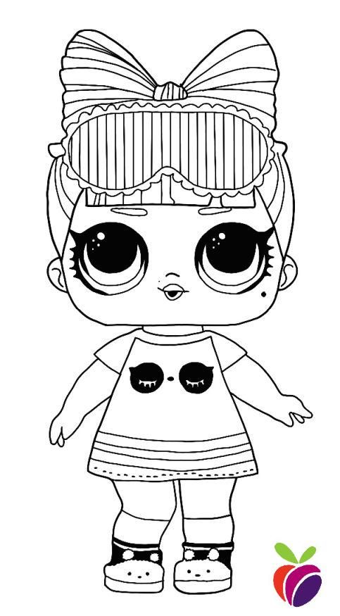 Lol Surprise Sparkle Series Coloring Page Snuggle Babe Cute Coloring Pages Cool Coloring Pages Coloring Pages