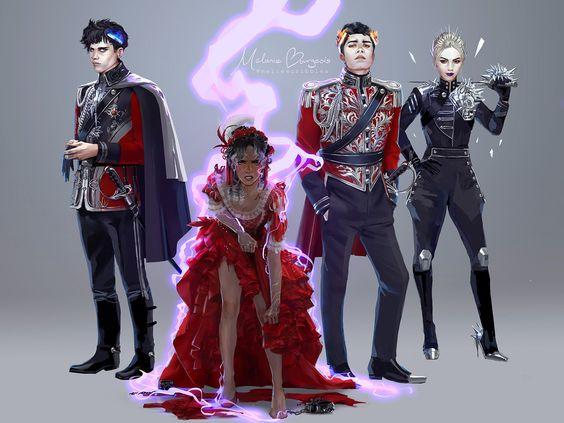 Red queen tome 4 : War storm (Fan art par @meliescribbles)
