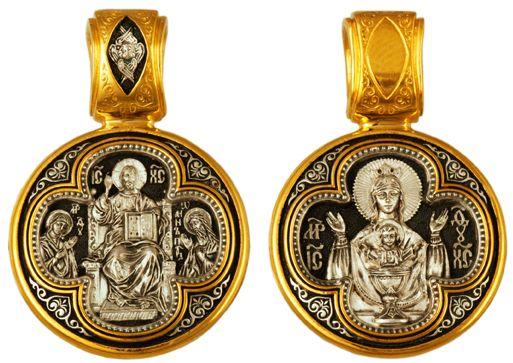 Образок Деисус. Икона Божией Матери «Неупиваемая чаша»