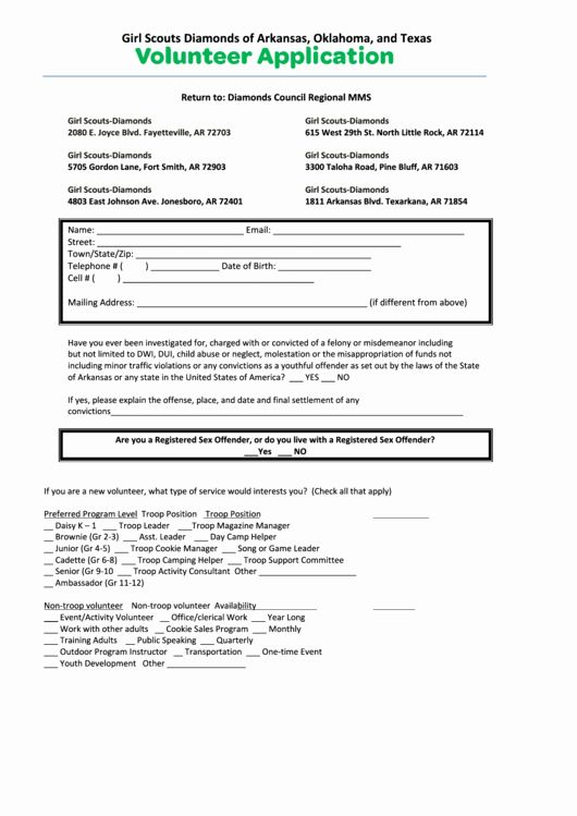 Volunteer Application Form Pdf Best Of Top 253 Girl Scout Forms And Templates Free To In Pdf Format Volunteer Application Application Form Business Template