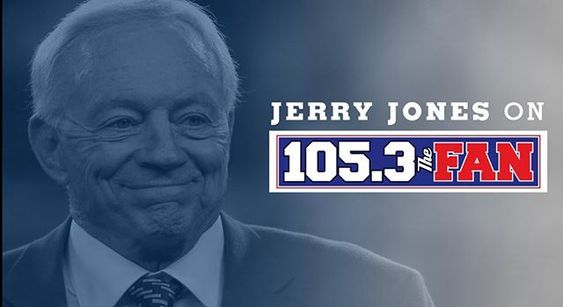 Tune in to Jerry Jones now on 105.3 the fan
