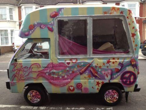 Custom Painted Vintage Ice Cream Van