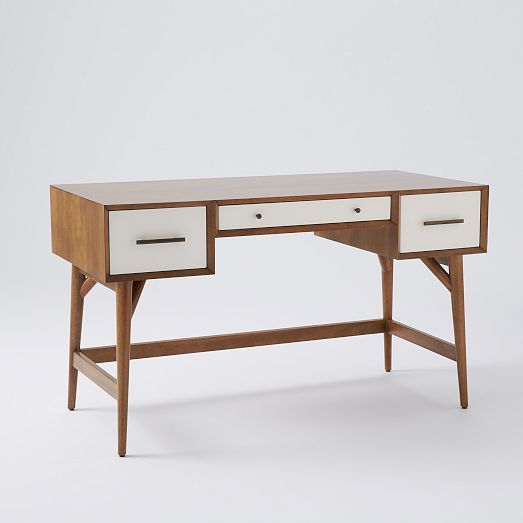 I love the mid century inspired line at west elm solid - West elm office desk ...