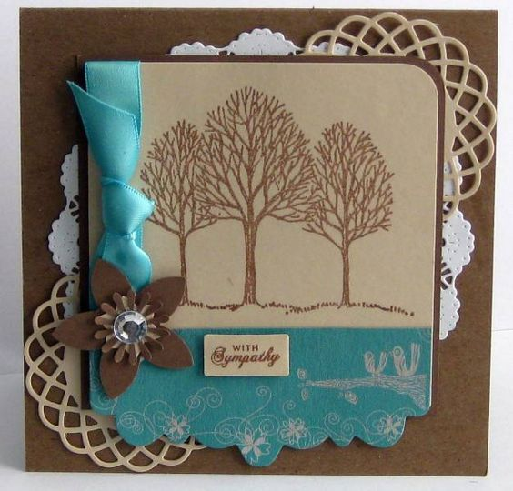 With Sympathy by Sparkling Stamper - Cards and Paper Crafts at Splitcoaststampers