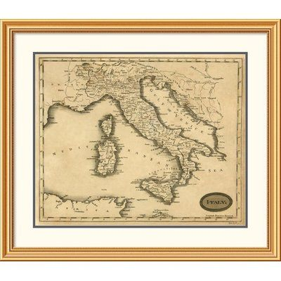 East Urban Home \'Italy, 1812\' Framed Print Size: 34\