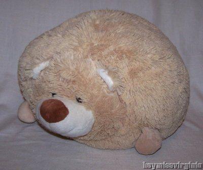 Hug & Luv BEAR PILLOW Plush Soft Stuffed Animal ROUND Large Plushies Pinterest Bears ...