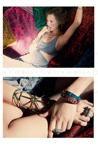 Pamela Love's Bedouin-inspired jewelry lookbook featuring Behati Prinsloo