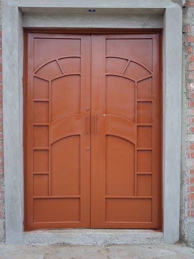 Puerta de fierro dos hojas forja pinterest - Puertas de dos hojas ...