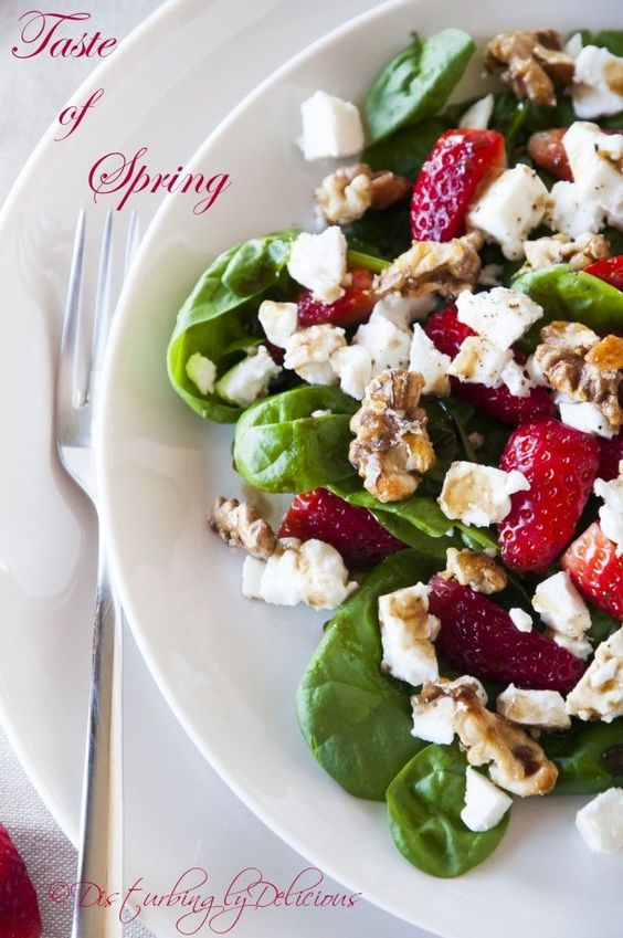 Baby Spinach Salad with Walnuts, Feta Chese, and Balsamic ...