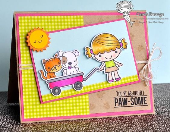 Sketch and Color Challenge 21    Your Next Stamp - YNS Supplies:  Phoebe With Her Wagon   Phoebe With Her Wagon coordinating dies   Rainbow Fun dies   Silver Tinsel Gumdrops