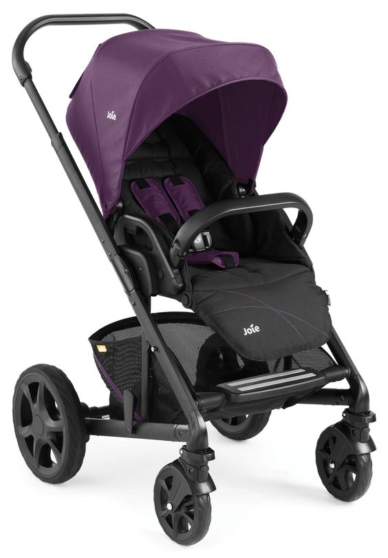 Joie Chrome Black Chassis Pushchair - Damson *Exclusive to Mothercare*