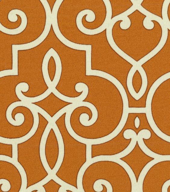 Home Decor Outdoor Canvas-HGTV HOME Treillage Papaya