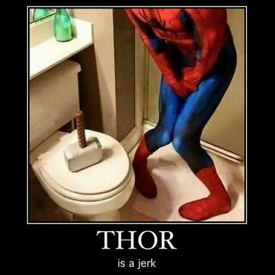 To keep up with Avengers theme today. Call us if you need help with your toilet 780-462-2225 #yeg #edmonton #sprucegrove #Leduc #shpk