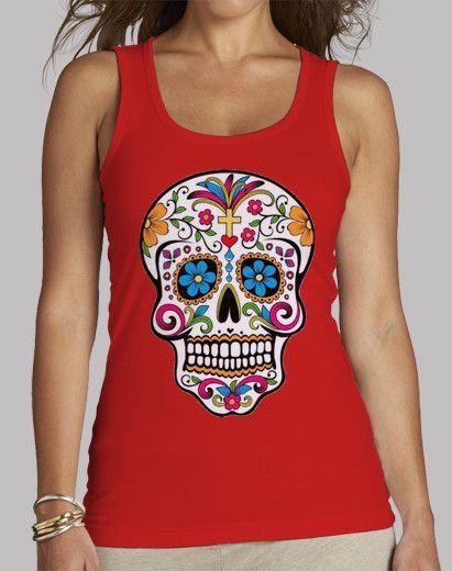 Camiseta Chica tirantes, Catrina Primavera disponible en 4 colores por 19,90€