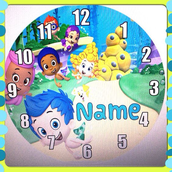 Personalized Bubble Guppies Inspired Wall Clock on Etsy, $19.99