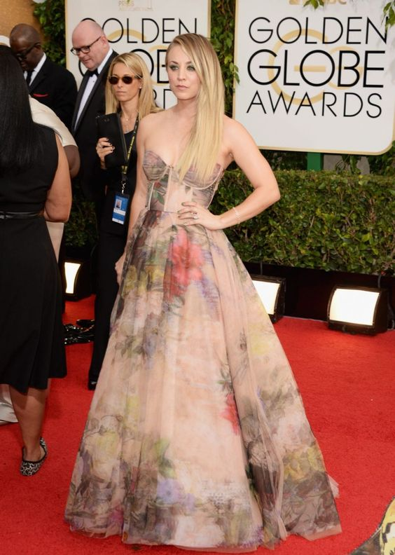 Kaley Cuoco at 71st Annual Golden Globe Awards