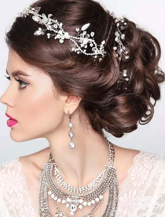 20 Fresh Updo And Bun Hairstyles For Weddings 2018 Wedding Bun Hairstyles Bun Hairstyles Hair Styles