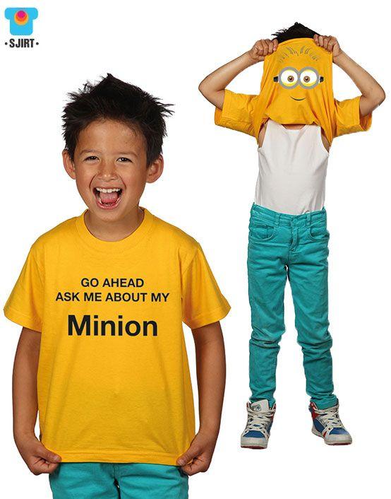Cool Minion Kinder t-shirt | 'despicable me' | Nieuw kinderkleding merk: Sjirt | nu vekrijgbaar bij www.kienk.nl