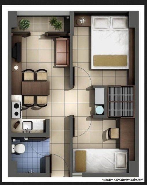 Desain Tipe Rumah Minimalis 2019 Dari Yang Terkecil Sampai Termewah Di 2020 Denah Rumah Ide Apartemen Desain Rumah
