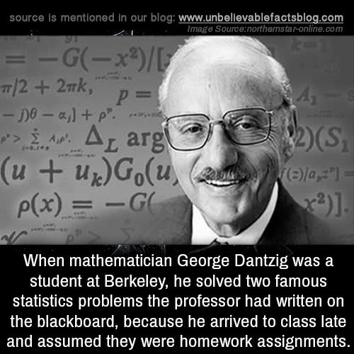 George dantzig homework