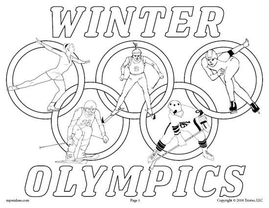 Printable Winter Olympics Coloring Page Sports Coloring Pages Winter Olympics Olympic Colors