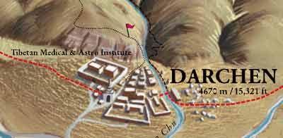 Darchen ist der Ausgangs- und Endpunkt der Kailash-Kora (Kailash-Umrundung).