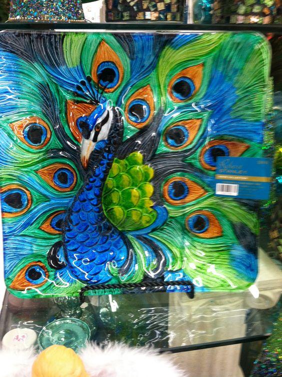 Peacock Decorative Plate Hobby Lobby Love The Colors