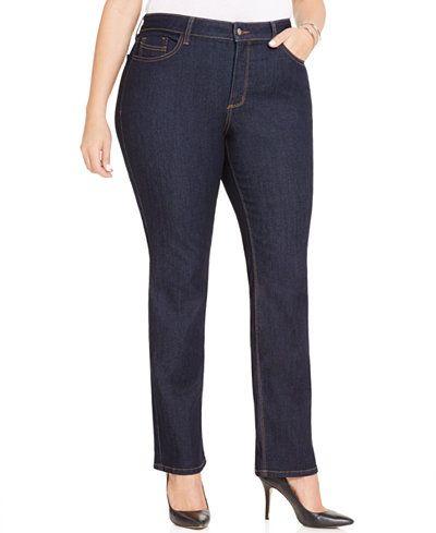 NYDJ Plus Size Hayley Straight-Leg Jeans