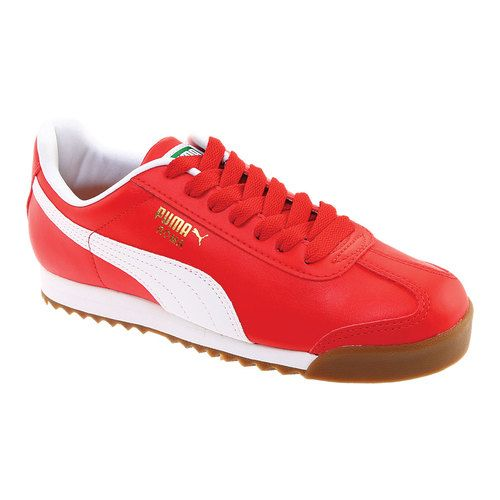 Mens Puma Red And White Sneakers Shoes