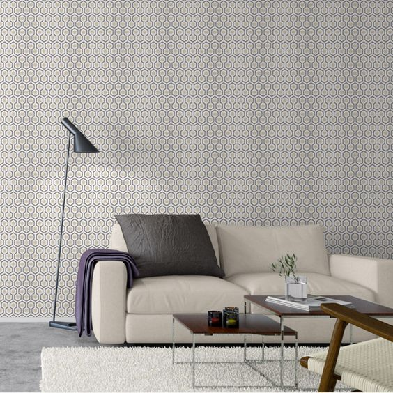 papier peint hicks' hexagon - cole and son   synowie i projektowanie