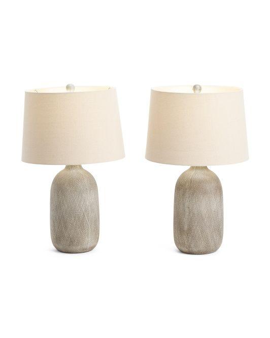 Set Of 2 Ceramic Lamps Table, Tj Max Lamps