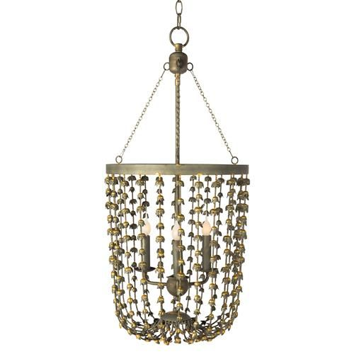 Jacinthe French Country Antique Gold Rose Bud Lantern | Kathy Kuo Home