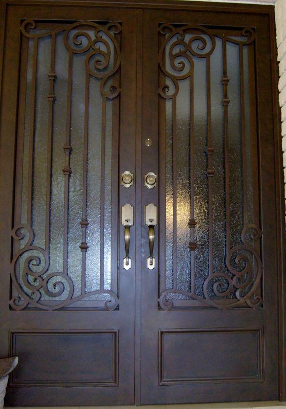 Puertas principales de forja herreria y forja herreria for Puertas de entrada de metal