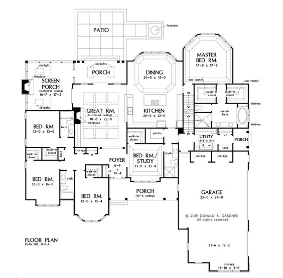 First Floor Alternative Plan With Basement Stairs