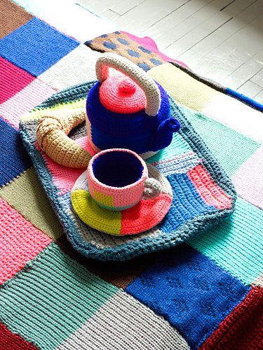 Brabourne Farm: Crochet tea set