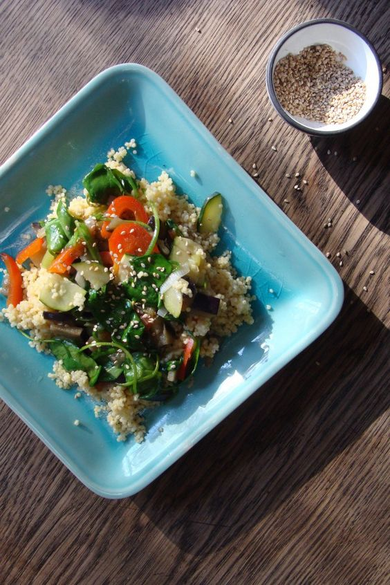 Vegetables with millet