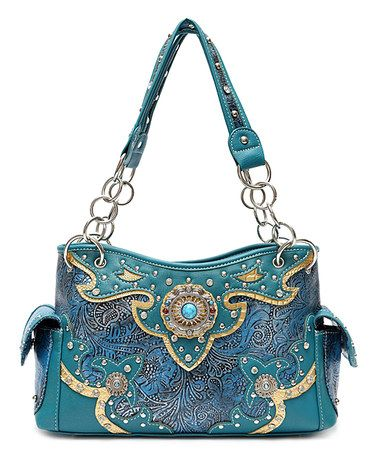 Loving this Turquoise Western Concho Satchel on #zulily! #zulilyfinds
