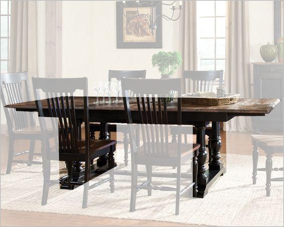 Intercon Solid Oak Dining Table Gramercy Park INGP4296TAB