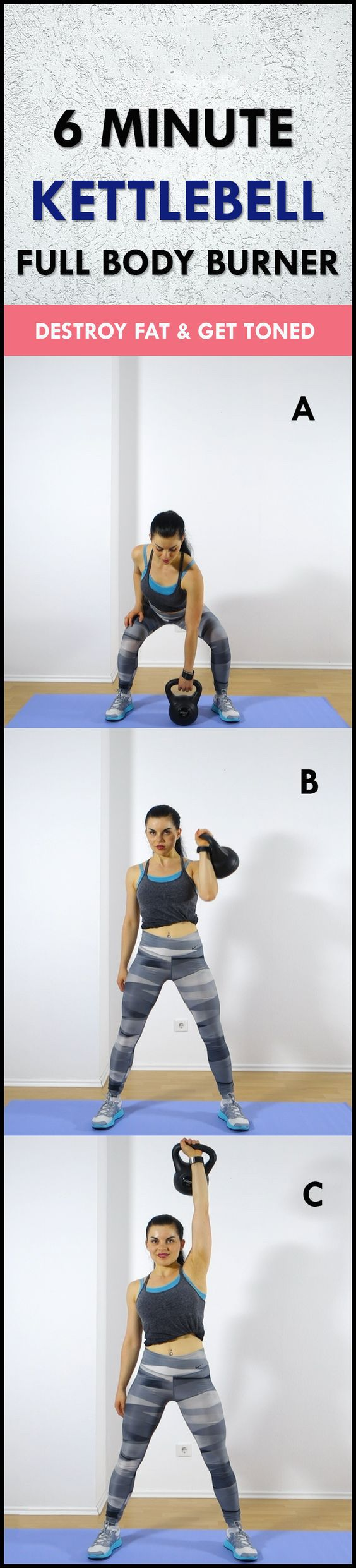 6 Minute Kettlebell Workout Posted By Advancedweightlosstips Com Full Body Strength Training Routine Kettlebell Workout Routines Kettlebell Workout