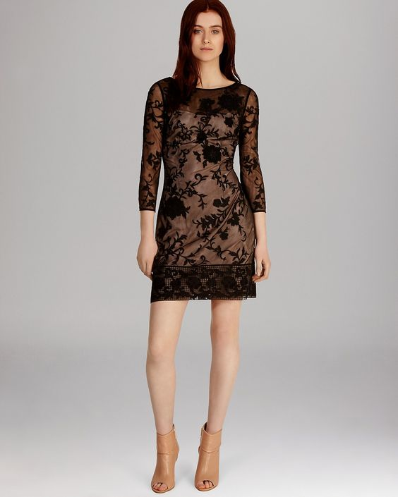 floral embroidered tulle dresses | KAREN MILLEN Dress - Modern Floral Embroidered Tulle Collection