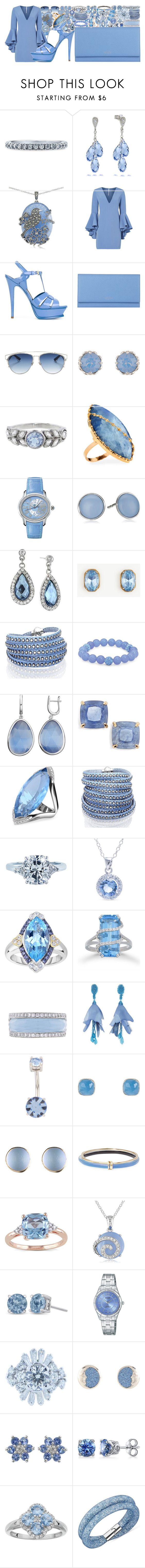 """Untitled #3815"" by brooke-evans12 ❤ liked on Polyvore featuring BERRICLE, Lord & Taylor, Milly, Yves Saint Laurent, Smythson, Christian Dior, Accessorize, Cathy Waterman, Lana and Audemars Piguet"